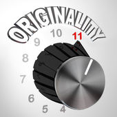 Originality Dial Knob Turned to Max - Innovative Invention — Stock Photo