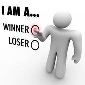 I Am a Winner vs. Loser - Choose Your Future Believe in Yourself — Stockfoto