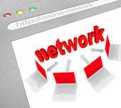 Social Network on Online Website Screen Shot — Stock Photo