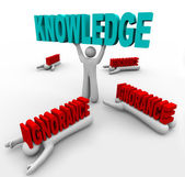 Knowledge Triumphs Over Ignorance - Learn to Grow and Win — Stock Photo