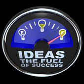 Ideas are the Fuel of Success Gauge Measuring Idea Supply — Stock Photo