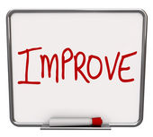 Improve Word on Dry Erase Board Encouraging Change — Stock Photo