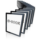 E-Books Tablet Readers New Technology Growing in Popularity — Stock Photo