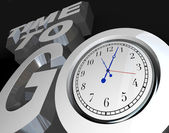 Time to Go 3D Words Clock Counting Down Moment to Start — Stock Photo