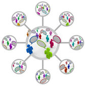 Network of Communicating in Network of Connections — Stock Photo