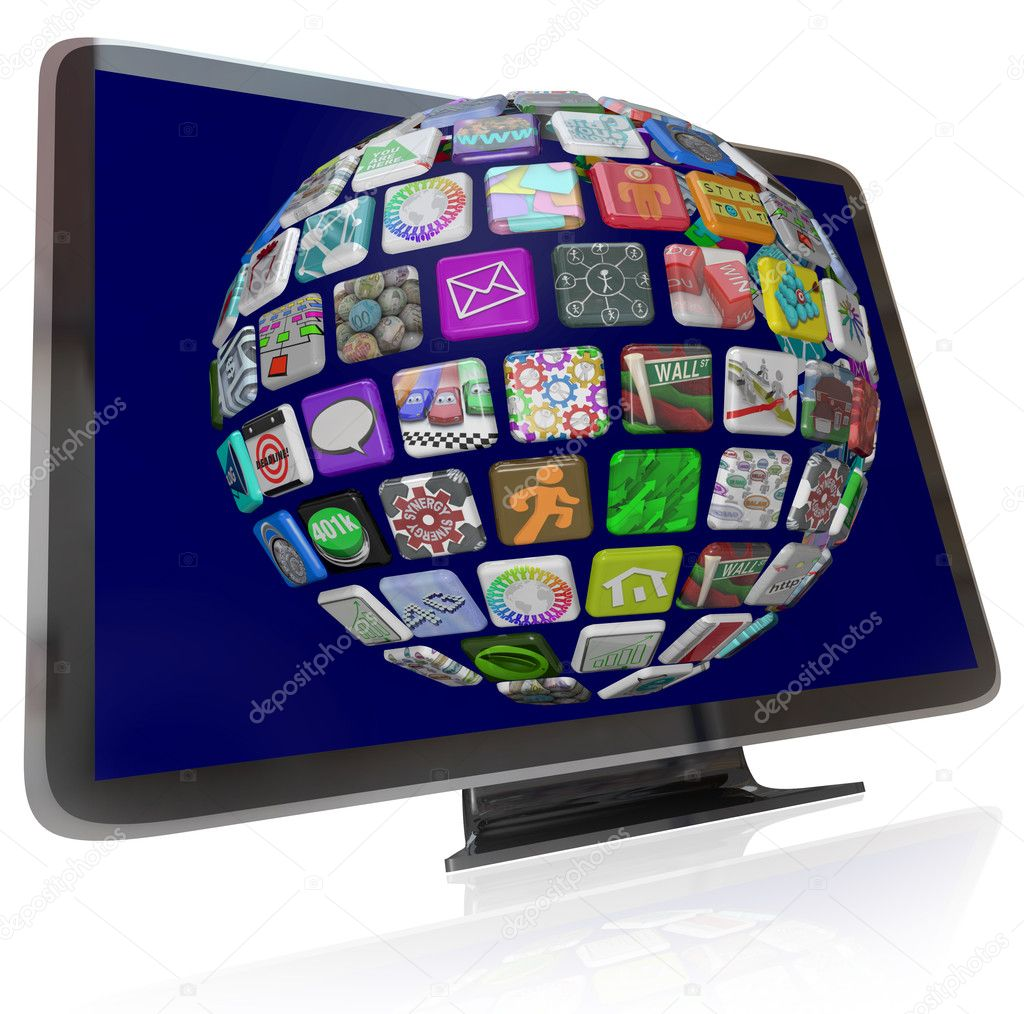 depositphotos 6270199 Streaming Content Icons on HDTV Television Screens Saving on Car Insurance for Teen Drivers; The Auto Insurance Savings Add Up