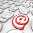 Email At Symbol for Internet Web Communication Message — Stock Photo