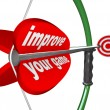 Stockfoto: Improve Your Game - Bow Arrow and Target Improvement