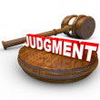 Judgment Word and Gavel Final Decision Legal Court - Stock Photo