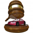 Gavel and Car - Losing Car to Repossession and Bankruptcy — Stock Photo