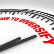 Time to Diversify Clock Manage Investment Risk - Stock Photo