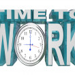 Time to Work Clock Countdown to Working Deadline — Stockfoto