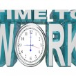 Time to Work Clock Countdown to Working Deadline - Stock Photo