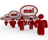 Many Shouting Me to Stand Out in a Crowd — Stock Photo