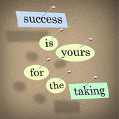 Success is Yours for the Taking - Bulletin Board — Stock Photo