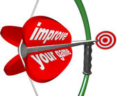 Improve Your Game - Bow Arrow and Target Improvement — Stock Photo