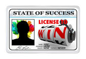 License to Win Laminated ID Card Opportunity for Success — Stock Photo