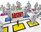 Absent Person on Organizational Chart - Lateness or Tardiness — Stock Photo