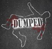 Dumped - Chalk Outline of Ex-Worker or Ex-Lover Break-Up — Stock Photo