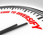 Time to Diversify Clock Manage Investment Risk — Stock Photo