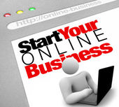 Website - Start Your Online Business Instructions to Lauch Site — Zdjęcie stockowe