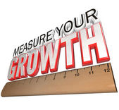 Ruler - Measure Your Growth Tracking Progress to Goal — Stock Photo