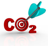 CO2 Carbon Dioxide Emission Reduction Target and Goal — Stock Photo