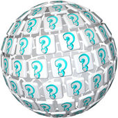 Question Mark Sphere - Ball of Confusion and Curiosity — Stock Photo