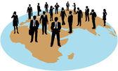 Zdroje globální pracovní síly podniku — Stock vektor