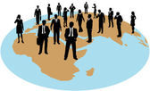 商业全球劳动力资源 — 图库矢量图片