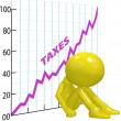High tax increase chart ruin 3D taxpayer — Stock Photo