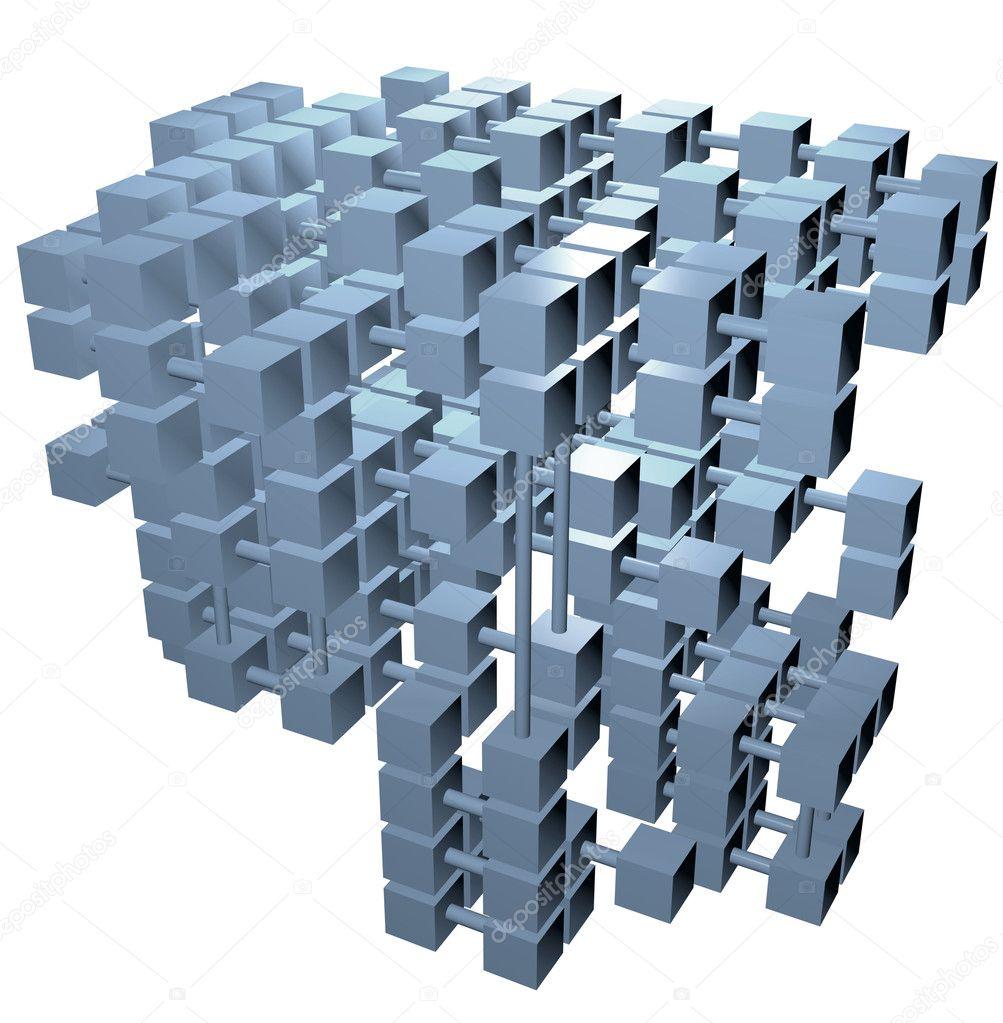 数据库结构的多维数据集的网络连接
