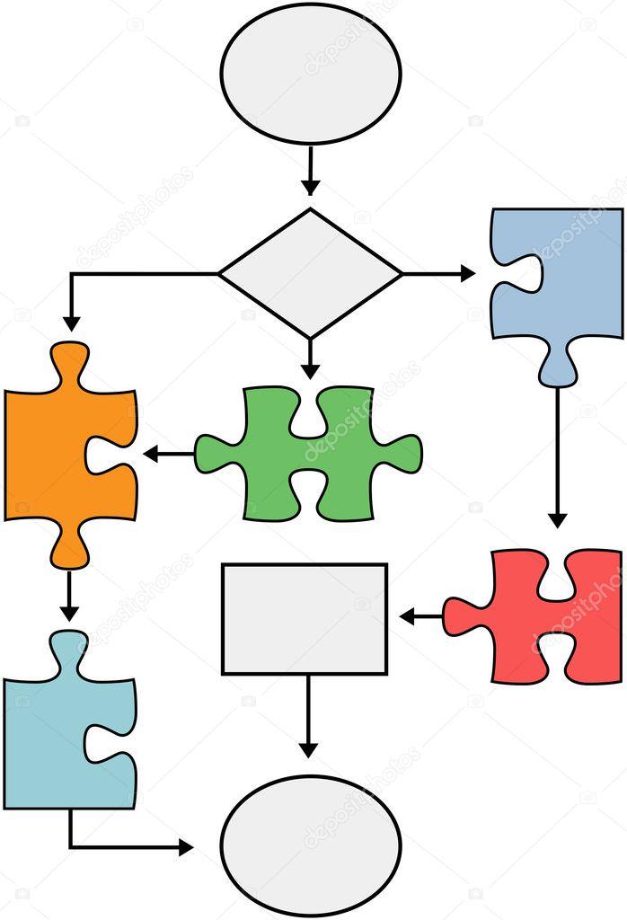 штук в символ блок-схема