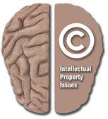 Intellectual Property IP asset copyright — Stock Photo