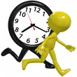 Stock Photo: Person clock hurry race run busy day time