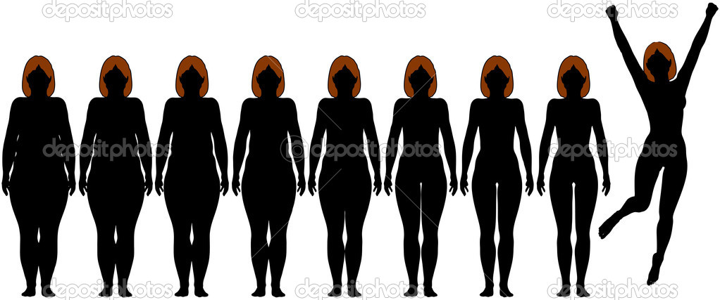 Fat Woman Silhouette Clip Art