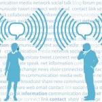 Business smartphone G4 WiFi social network — Stock Vector