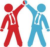 Business celebrate deal agreement success — Stock Vector