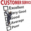 Business man customer service satisfaction form — Lizenzfreies Foto