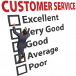 Business man customer service satisfaction form — 图库照片