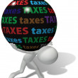 Taxpayer under large unfair tax burden - Stockfoto