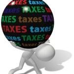 Taxpayer under large unfair tax burden — Stock Photo