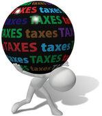 Belastingbetaler onder grote oneerlijke fiscale lasten — Stockfoto
