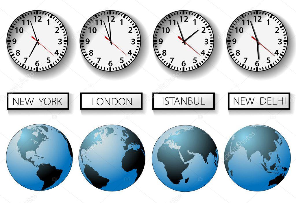 Дизайнер график часовой пояс