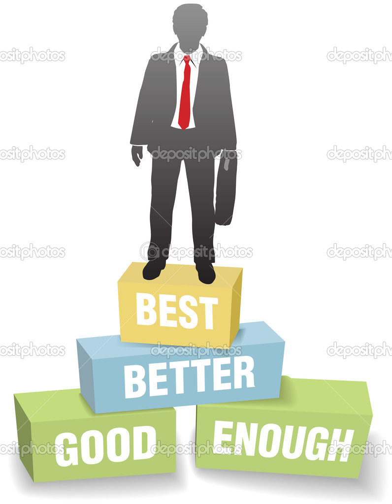 business person good better best achievement stock vector business person good better best achievement stock illustration
