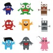 Funny monsters — Stock Vector