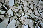 Broken bricks texture — Stock Photo