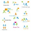 Royalty-Free Stock Imagem Vetorial: Community Logos Set
