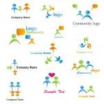 Community Logos Set — Stock Vector