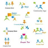 Community Logos Set — Stock Vector